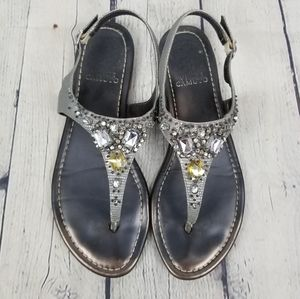 VINCE CAMUTO   Mallory jeweled thong sandals